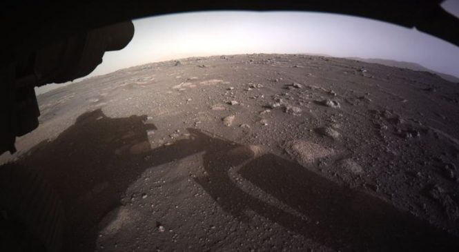 Perseverance rover moments before touchdown among new images of Mars released by NASA