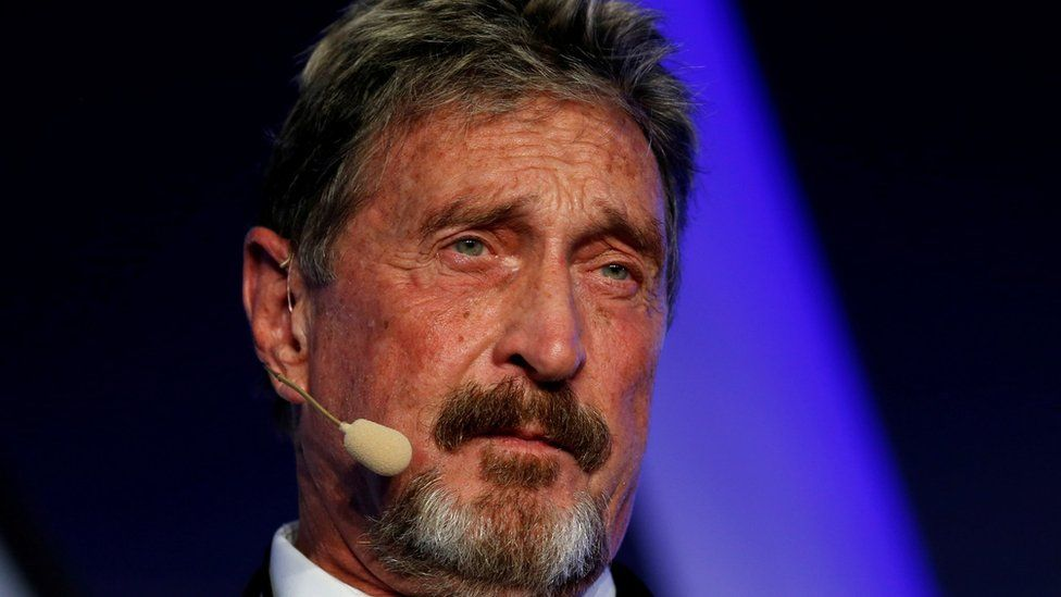 John McAfee charged with fraud over cryptocurrency