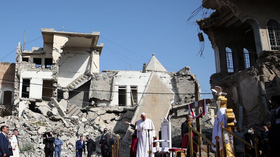 Pope Francis on Church Square in Mosul, Iraq, 7 March