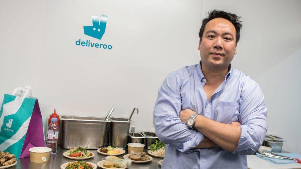 Deliveroo's chief executive Will Shu