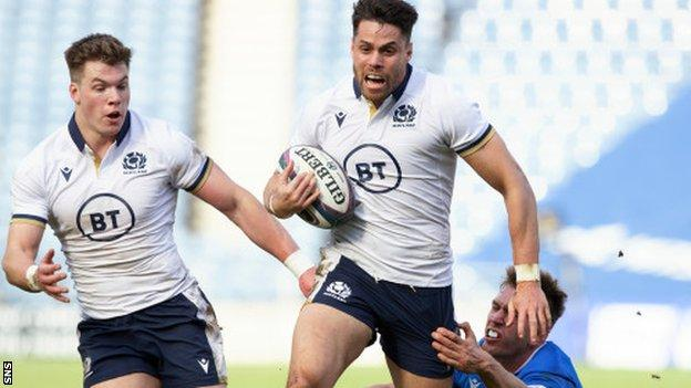Six Nations: Scotland's Sean Maitland out for France tie as Adam Hastings returns