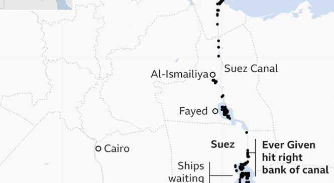 'Our customers are worried about the Suez Canal blockage'