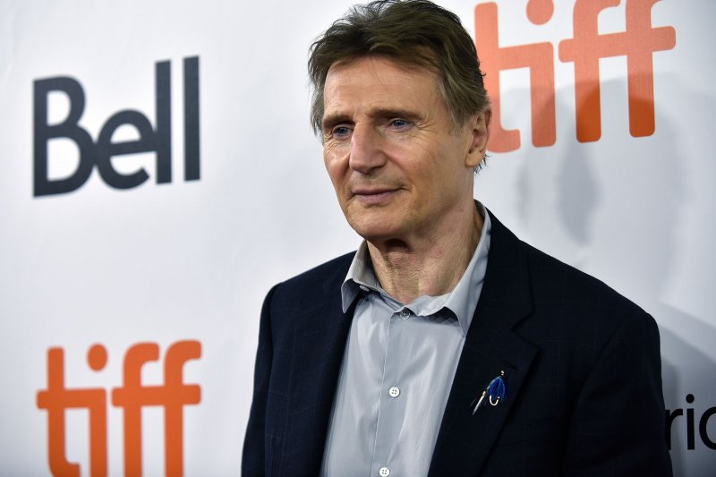 Liam Neeson greets fans as NYC movie theaters reopen