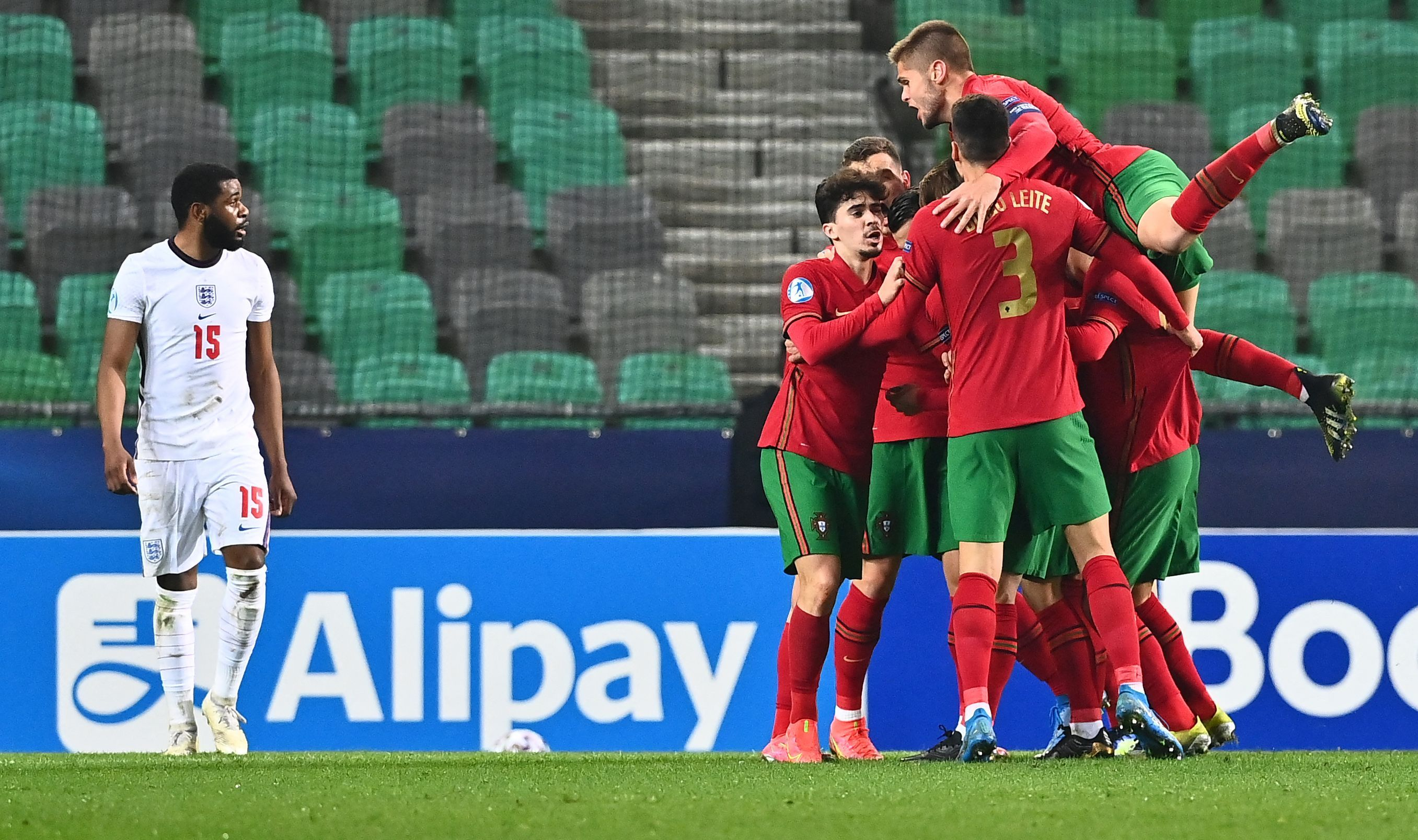 England Under-21s lose AGAIN as Aidy Boothroyd's side beaten by Portugal to leave them rock bottom of Euro 2021 group