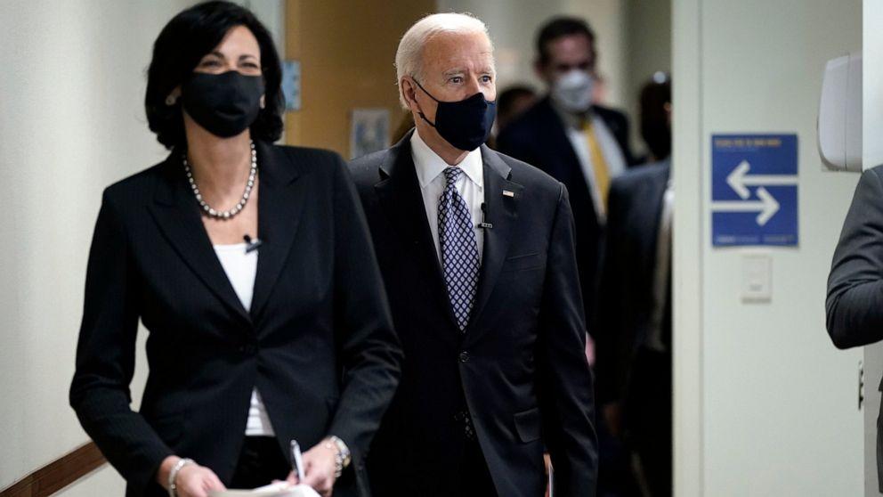 Biden, CDC director warn of virus rebound if nation lets up