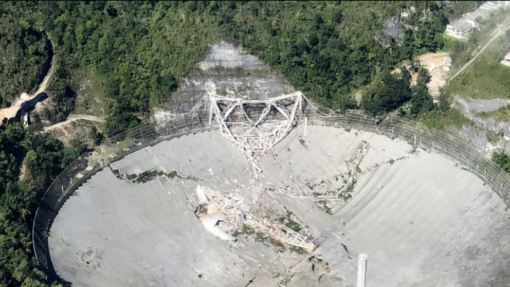 Officials seeking answers to Puerto Rico telescope collapse