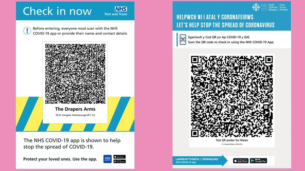 QR barcode posters in English and Welsh