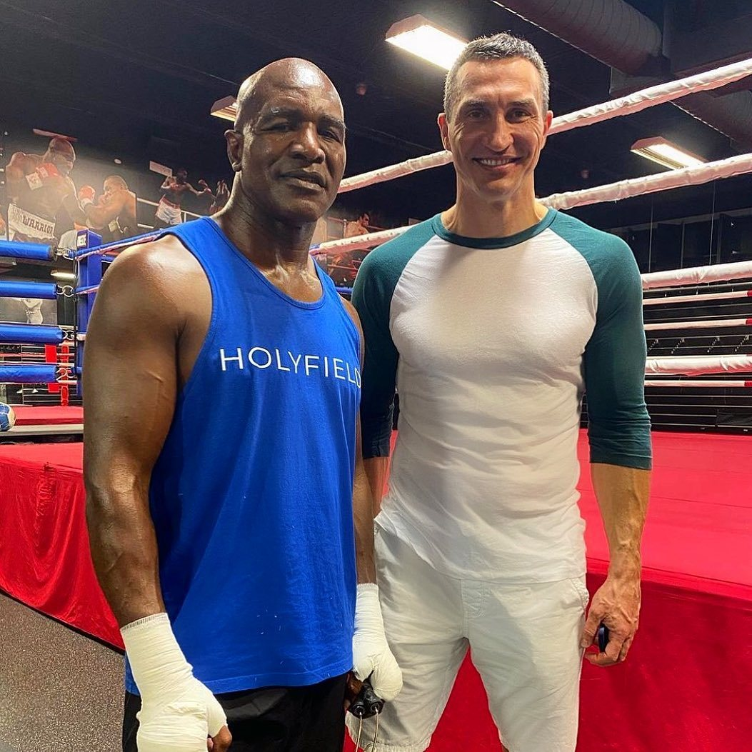 Holyfield has also been hard at work in the gym