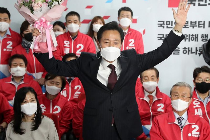 South Korea's opposition party sweeps to victory in key mayoral races