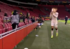 Ajax ball boy launches football at Roma star Riccardo Calafiori during Europa League clash