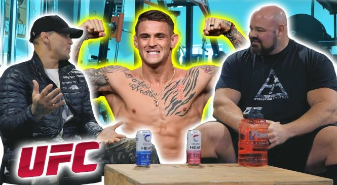 Dustin Poirier ramps up Conor McGregor preparations by choking World's Strongest Man Brian Shaw before trilogy fight at UFC 264 on July 10