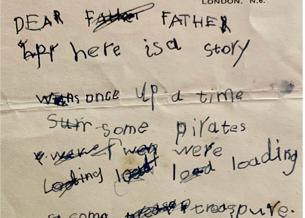 A letter 6-year-old Stephen Hawking wrote to his dad about pirates and treasure